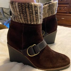 Naturalizer N5 comfort high ankle bootie part wool